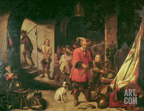 Arms Depot, 1667 Stretched Canvas Print