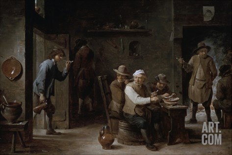 The Tavern Stretched Canvas Print