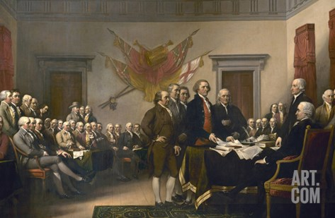 Signing the Declaration of Independence, July 4th, 1776 Stretched Canvas Print