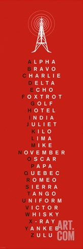 Phonetic Alphabet I Stretched Canvas Print