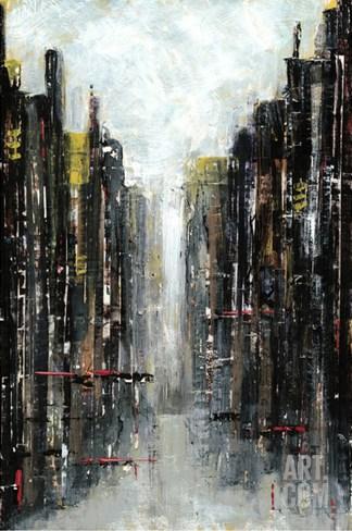 Gotham I Stretched Canvas Print