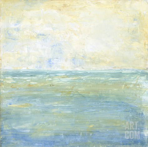 Tranquil Coast II Stretched Canvas Print