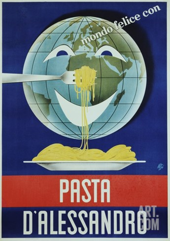 Pasta D'Alessandro Poster Stretched Canvas Print