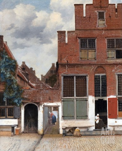 The Little Street (View of Houses in Delft) Stretched Canvas Print