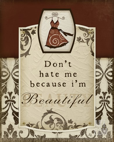 Don't Hate Me Stretched Canvas Print