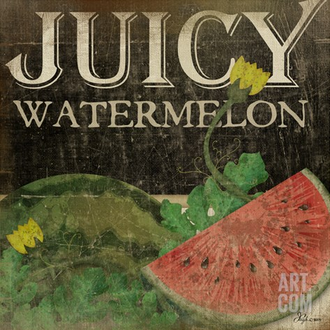 Juicy Watermelon Stretched Canvas Print