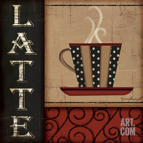 Latte Stretched Canvas Print