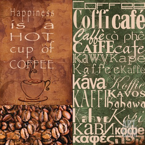 Coffee in Any Language Stretched Canvas Print