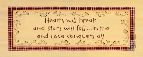 Hearts Will Break Stretched Canvas Print