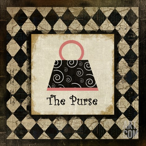 The Purse Stretched Canvas Print