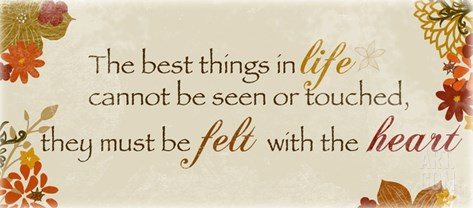 The Best Things in Life Stretched Canvas Print