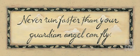 Never Run Faster Stretched Canvas Print