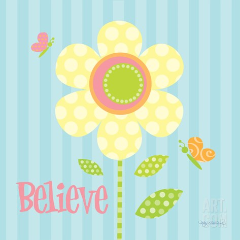 Believe Stretched Canvas Print