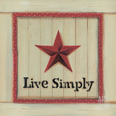 Live Simply Stretched Canvas Print