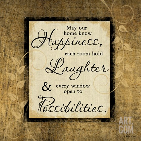 Happiness, Laughter, Possibilities Stretched Canvas Print