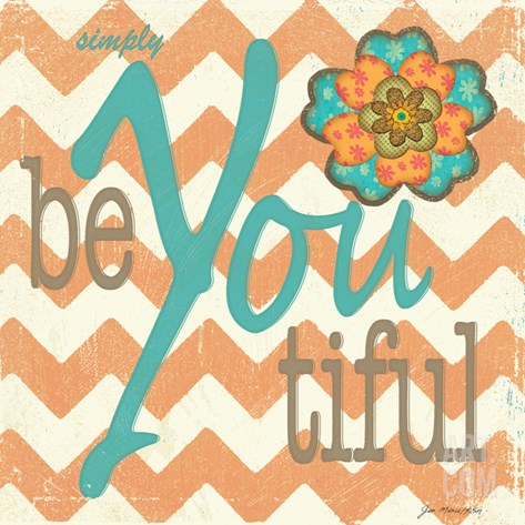Beyoutiful Stretched Canvas Print
