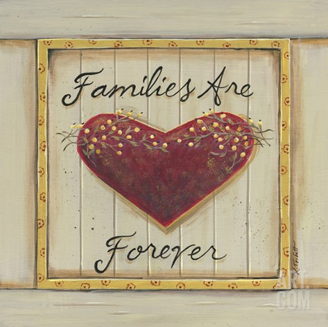Families are Forever Stretched Canvas Print