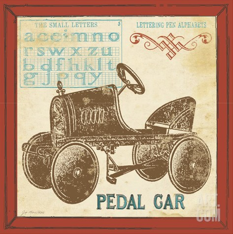 Vintage Pedal Car Stretched Canvas Print