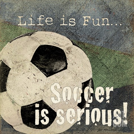 Soccer Stretched Canvas Print