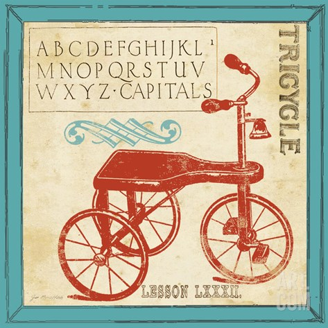 Vintage Tricycle Stretched Canvas Print