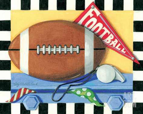 Football Stretched Canvas Print