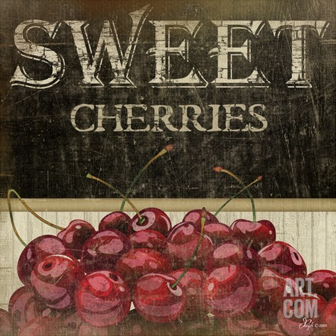 Sweet Cherries Stretched Canvas Print