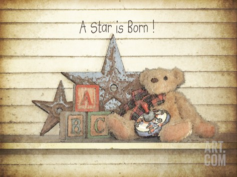 A Star Is Born Stretched Canvas Print
