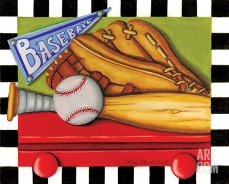 Baseball Stretched Canvas Print