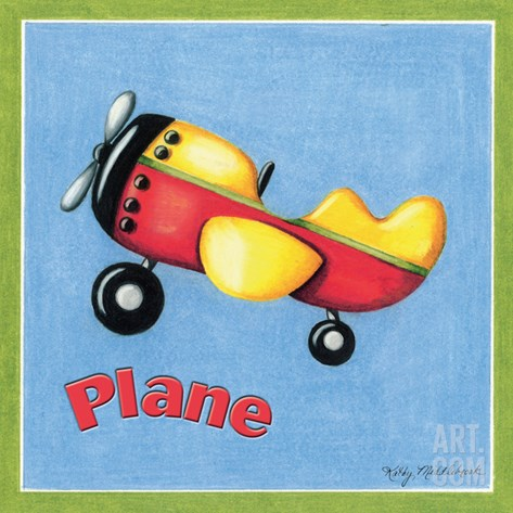 Plane Stretched Canvas Print