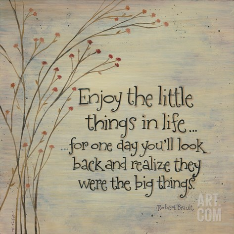 Enjoy the Little Things Stretched Canvas Print