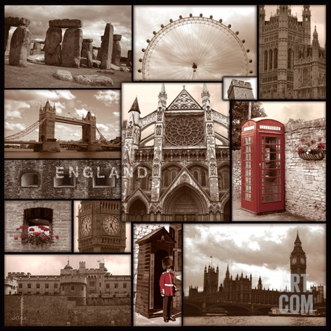 England Stretched Canvas Print