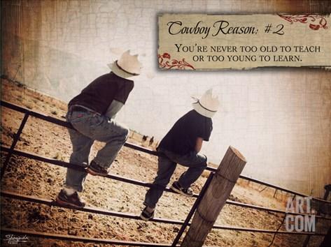 Cowboy Reason II Stretched Canvas Print