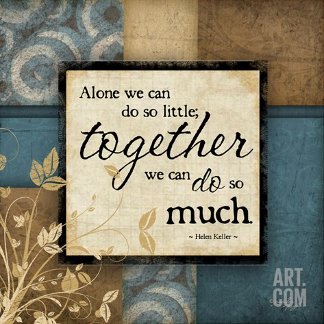 Together Stretched Canvas Print