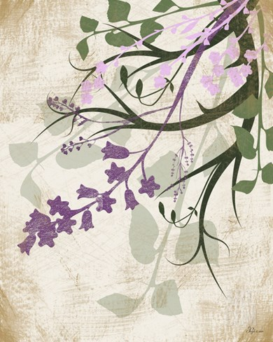 Lavender and Sage II Stretched Canvas Print