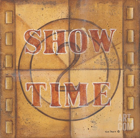 Show Time Stretched Canvas Print