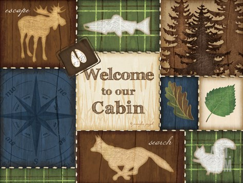 Welcome to Our Cabin Stretched Canvas Print