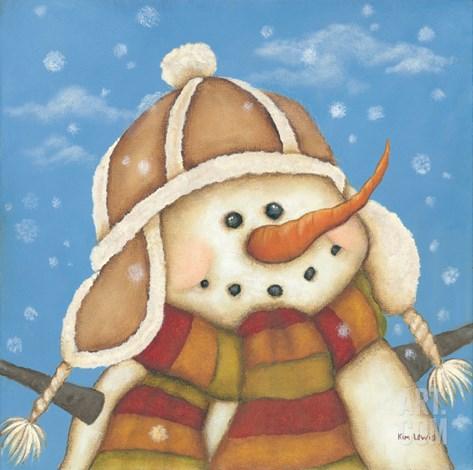 Snowman I Stretched Canvas Print
