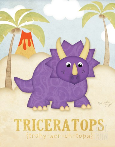 Triceratops Stretched Canvas Print