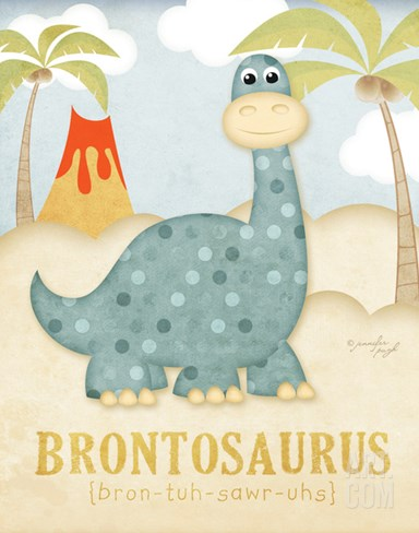 Brontosaurus Stretched Canvas Print