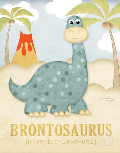 Brontosaurus Stretched Canvas Print