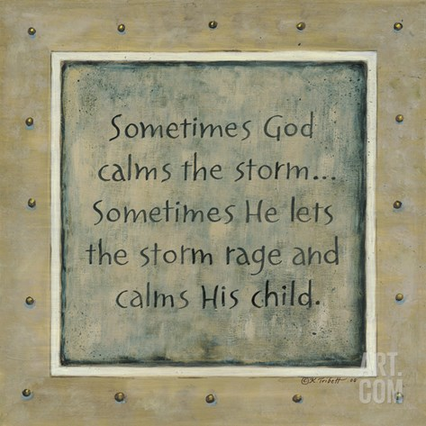 Sometimes God Calms the Storm Stretched Canvas Print