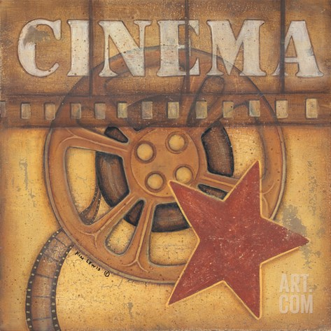 Cinema Stretched Canvas Print