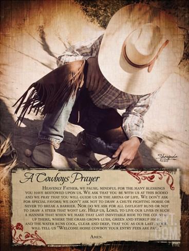 A Cowboy's Reason Stretched Canvas Print