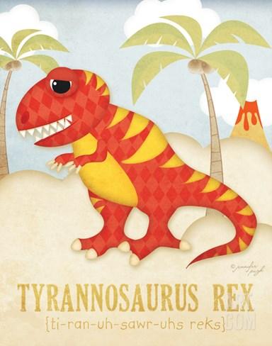 Tyrannosaurus Rex Stretched Canvas Print