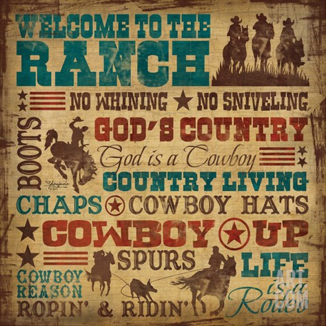 Welcome to the Ranch Stretched Canvas Print