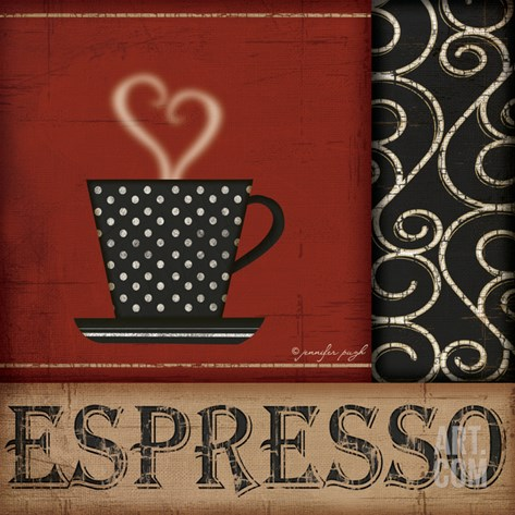 Espresso Stretched Canvas Print