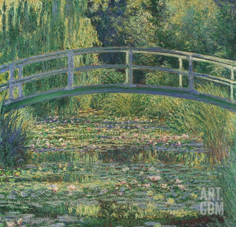 Waterlily Pond, 1899 Stretched Canvas Print